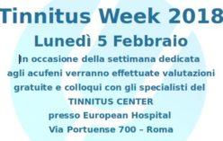 Tinnitus Week 2018: chiuse prenotazioni per l'Open Day del 5 febbraio